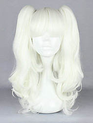 Lolita Wigs Gothic Lolita Lolita Medium White Lolita Wig 45 CM Cosplay Wigs Solid Wig For Women