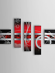 Hand Painted Oil Painting Abstract Set of 5 1307-AB0468