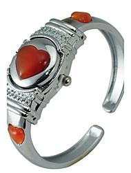 Frauen Alloy Quarzwerk Glas Sweet Heart Watch (weitere Farben)