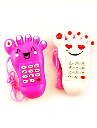 Electric Light-up Musical Mobile Phone Foot Shaped (verschillende kleuren)