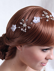 Luxurious Alloy Flowers with Crystal Wedding Bridal Headpieces