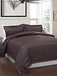 3-teiliges modernen Stil rot und grau Jacquard Bettbezug Set