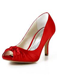Women's Wedding Shoes Heels/Peep Toe Heels Wedding Black/Blue/Pink/Purple/Red/Ivory/White/Silver/Gold/Champagne