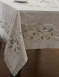 Floral toalhas de mesa de linho clássico