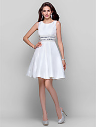 TS Couture® Cocktail Party / Graduation Dress - Ivory Plus Sizes / Petite Ball Gown / A-line Jewel Short/Mini Taffeta