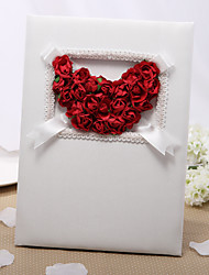 Guest Book Satin Floral ThemeWithPetals