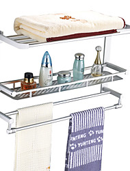 Aluminum Double-camada de Multifunctional Folding rack de Towel