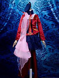Inspiriert von Macross Grenze Sheryl Nome Anime Cosplay Kostüme Cosplay Kostüme / Kleider Patchwork Rot Lange ÄrmelUmhang / Bluse / Rock