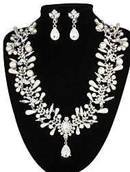 Women's Pearl/Alloy/Rhinestone Jewelry Set Pearl