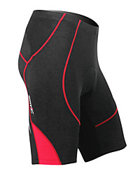 MC05038R Santic Summer Men's Coolmax Breathable Material Cycling 1/2 Pants - Red