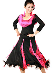 Dancewear Viscose With Tassels Latin Dance Outfits for Ladies