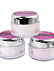 3PCS Nail Art Acylic Powder White & Pink & Clear 270g