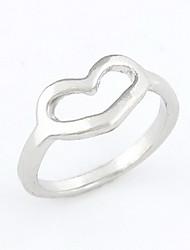 Alliage Unique Coeur affectueux L'anneau de forme des femmes (plus de couleurs)