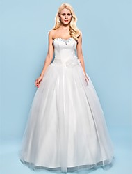 Lanting Ball Gown Plus Sizes Wedding Dress - Ivory Floor-length Sweetheart Satin/Tulle