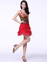 Vêtements Tulle et glands de paillettes robe de danse latine pour les dames (plus de couleurs)