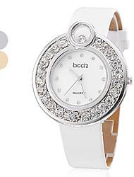 PU quartz analogique bracelet de la montre-bracelet des femmes (couleurs assorties)