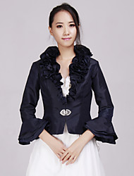 Luxurious Taffeta Special Occasion Mother Of The Bride Wedding Evening Jacket/ Wrap(More Colors) Bolero Shrug