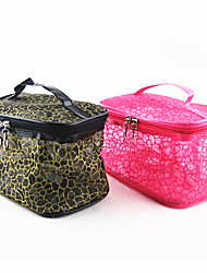 Portable Make up/Cosmetic Bag with Mirror Transparent Lattice(Assorted Color)