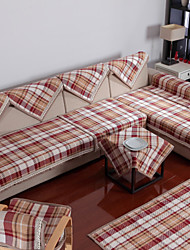 FREE SHIPPING Cotton English Style Check Sofa Cushion 85*210