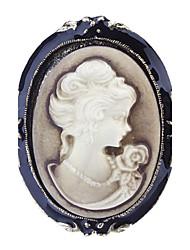 Z&X®  Women's  Beauty Silhouette Brooch