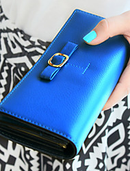 Fashion Bow Cover Long Wallet