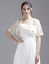 Party/Evening / Casual Lace Coats/Jackets Short Sleeve Wedding  Wraps