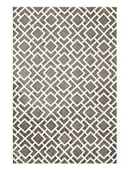 Modern Wool Tufted Area Rug With Square Pattern 5'*8'