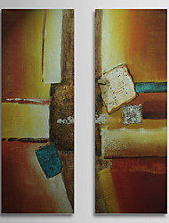 Hand Painted Oil Painting Abstract with Stretched Frame Set of 2 1309C-AB0841