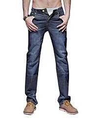 Justyle Men's Mid Waist Straight Jeans