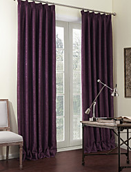 Two Panels Solid Purple Luxurious Blackout Curtains Drapes