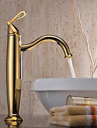 Rustique Vasque Mitigeur un trou in Ti-PVD Robinet lavabo