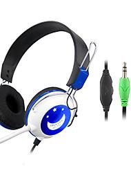 Estéreo Hi-Fi de 3,5 mm en la oreja los auriculares con micrófono y remoto CY-714 (púrpura, azul)
