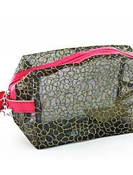 Portable Make up/Cosmetics Bag Gold&Black Transparent Lattice