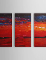 Hand Painted Oil Painting Abstract With Stretched Frame Set of 3 1308-AB0562