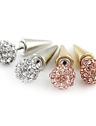 Brincos Curtos Pedras dos signos Europeu Strass imitação de diamante Liga Prata Dourado Jóias Para Diário