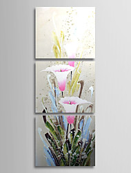 Hand Painted Oil Painting Floral with Stretched Frame Set of 3 1308-FL0756