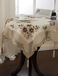 Classic Polyester Beautiful Floral Table Cloths