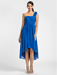 Lanting Dress - Royal Blue Plus Sizes / Petite Sheath/Column One Shoulder Asymmetrical Chiffon