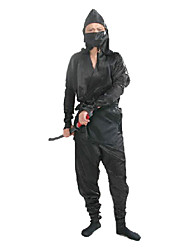 Side Slit Black Ninja Costume