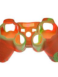 Housse de protection en silicone de couleur double pour le contrôleur PS3