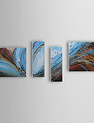 Hand Painted Oil Painting Abstract Melody with Stretched Frame Set of 4 1309C-AB0800