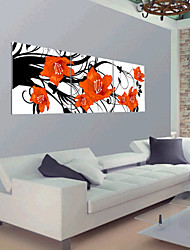 Stretched Canvas Art Floral Dance in the Air Set of 3