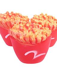 M Patatine fritte a forma di Squeaking giocattolo di gomma per animali Cani