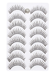 8Pcs Black False Eyelash