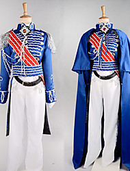 Cosplay Costumes / Party Costume Soldier/Warrior / Career Costumes Festival/Holiday Halloween Costumes Blue PatchworkCoat / Pants / Belt