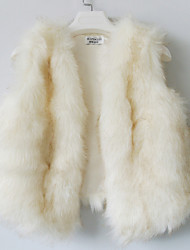 Fur Vest With Sleeveless Collarless In Faux Fur Party/Casual Vest(More Colors)