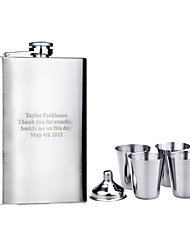 Gift Groomsman Personalized 6 Pieces Stainless Steel 9-oz Flask Gift Set