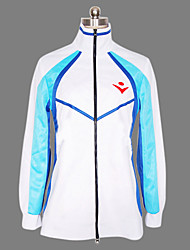 Inspired by Free! Haruka Nanase Anime Cosplay Costumes Cosplay Hoodies Print White / Blue Long Sleeve Coat
