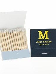 Wedding Décor Personalized Matchbooks Monogram-Set of 12 (More Colors)