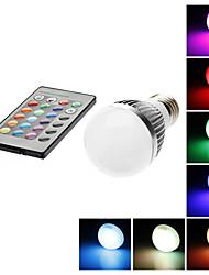 Lâmpada Redonda Controle Remoto E26/E27 3 W LM K RGB/Muda de Cor 1 AC 85-265 V G